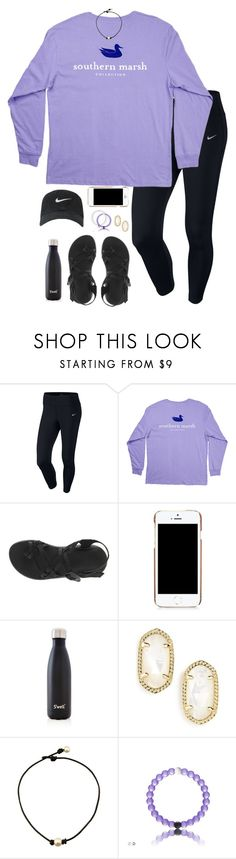 """""""♣️"""" by hannahcantrel ❤ liked on Polyvore featuring NIKE, Chaco, Moschino, S'well and Kendra Scott"""