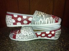 Texas A & M University hand painted TOMS by MyHeartToYourSole, $105.00