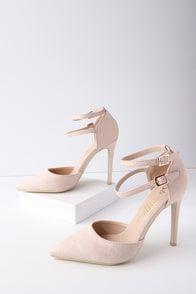 c1ea78aa5749 Emanuelle Blush Suede Ankle Strap Pumps Style Sophistiqué
