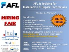 AFL Global Hiring Fair at Fraser Works ESC in #NewWest.