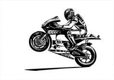 Wallmonkeys Moto Gp Wheelie Peel and Stick Wall Decals in W x 42 in H) -- Click image for more details. (This is an affiliate link) Motogp, Wall Stickers Murals, Wall Decals, Biker Tattoos, Motorcycle Tattoos, Super Pictures, Bike Drawing, Bike Pic, Lolo