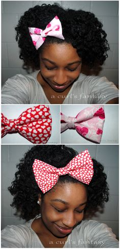 Cute hair bows for Vday!