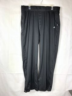 8fa4df8ef7e Adidas NWT Women s Climastorm Pants Size XL Black Zipper at hem NEW 21P   adidas
