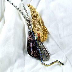 """Collier opales du monde """" des étoiles au paradis """""""