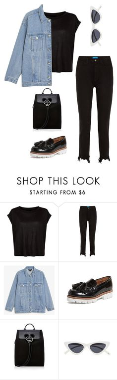 """""""Untitled #34"""" by nabilaezan on Polyvore featuring M.i.h Jeans, Monki, Grenson and J.W. Anderson"""