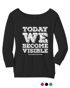 Today We Become Visible: Zebra Nation invisible illness Ehlers-Danlos Syndrome awareness gear