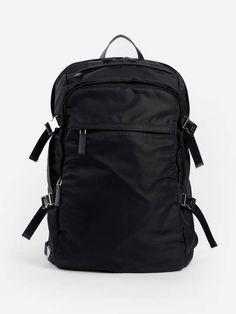 1158c7c4757f Leather-Trimmed Tessuto Backpack. Prada Backpacks 2VZ022973 F0002 ...