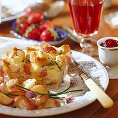 Rely on potatoes for a filling dish. These quick-fix herbed potatoes are a great addition to a brunch buffet or as a side dish.