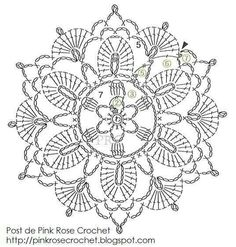 Crochet Flower Patterns Cool Flower - Pinkrosecrochet (chart) - Irish Crochet Flower Chart by Rose I'm always on the lookout for new motifs to use in Irish Crochet and this one caught my eye because it's a little like Venetian Crochet in design. Filet Crochet, Mandala Au Crochet, Crochet Circles, Crochet Flower Patterns, Crochet Diagram, Crochet Chart, Crochet Squares, Thread Crochet, Irish Crochet