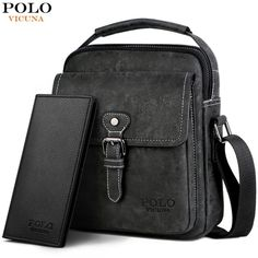 POLO VICUNA Men Set Series Cross-body Casual Bag With Long Wallet Vintage   fashion bd064d0f3fd79