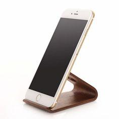 SAMDI - Houten Telefoon Houder Universeel Donker | Shop4Hoesjes.nl