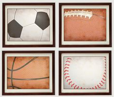 Sports Wall Decor vintage sports wood wall plaques | hobby lobby | kids | pinterest