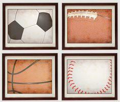 Sports Wall Decor vintage sports wood wall plaques | hobby lobby | kids | pinterest