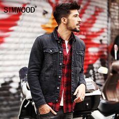 We love it and we know you also love it as well SIMWOOD 2017 New  Spring   Men Denim Jacket Fashion Casual Slim Jean Jacket Coat  long sleeve  brand clothing NJ6508 just only $36.40 with free shipping worldwide  #jacketscoatsformen Plese click on picture to see our special price for you