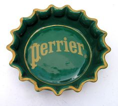 CENDRIER PUBLICITAIRE PERRIER FAIENCE - ashtray