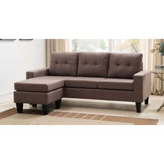 Mercury Row Briley Reversible Chaise Sectional Upholstery: Sand