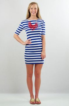 A classic tshirt dress is a must have in my wardrobe so I know you are going to feel the same way! This cute dress has an almost 3/4 sleeve and cotton fit that just barely skims the body. Great for really ANY wear! Memphis is wearing a Medium.