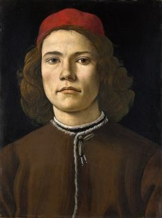 "Sandro Botticelli ""Portrait of a Young Man"" (II) Mini Art Print by alexandra_arts Portrait Renaissance, Renaissance Paintings, Renaissance Men, Italian Renaissance, Giorgio Vasari, Michelangelo, Sandro Botticelli Paintings, L'art Du Portrait, Simple Portrait"