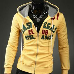 Sweat Hoodie yellow and grey combo