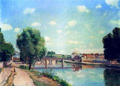 The+Railway+Bridge,+Pontoise+-+Camille+Pissarro