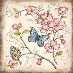 Cuadro le jardin Butterfly I