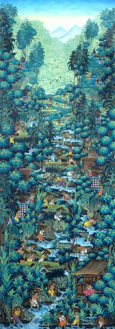 Bali Paradise II by Ngurah | Cyan Art Collection