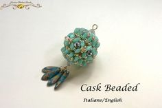 Cask Beaded (PDF Beading tutorial in Italian or in English) di RosinaOttoliniBeads su Etsy