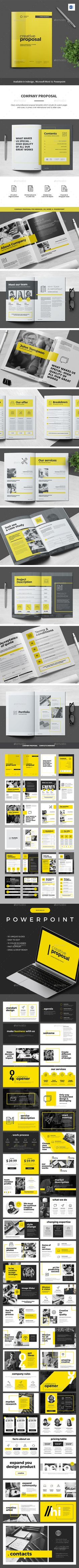 #Proposal - Proposals & #Invoices #Stationery Download here: https://graphicriver.net/item/proposal/19472049?ref=alena994