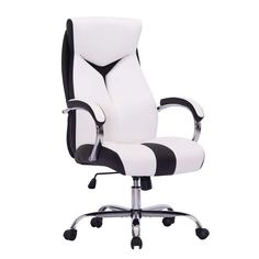 Swivel Chair – Sidanli High-Back Ergonomic Executive Office Chair,Swivel Pu Desk Chair with Chrome Base,Management Chair with… White Dining Room Chairs, Outdoor Tables And Chairs, Dining Table Chairs, Desk Chairs, Lounge Chairs, Best Office Chair, Most Comfortable Office Chair, Executive Office Chairs, Swivel Rocker Recliner Chair