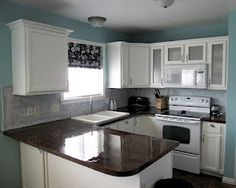 Paint your counters to look like granite. Wayyyyy cool!