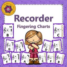 Colorful soprano recorder fingering charts to display in your music room. Two styles available to choose from!