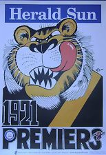 Weg Poster Ltd Edition Richmond Premiers 1921 Artist WEG