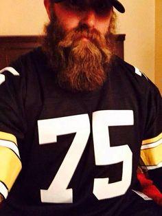 Da Beard in Mean Joe Greene's jersey