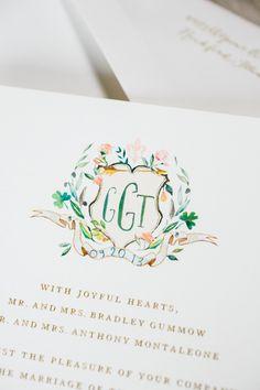 Brides: A Golden Garden-Inspired Wedding at Chicago's Blackstone Hotel