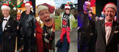 🎄 Who wore it BEST? LOL Some of my outfits over the years at the Elves Club Telethon and around town.