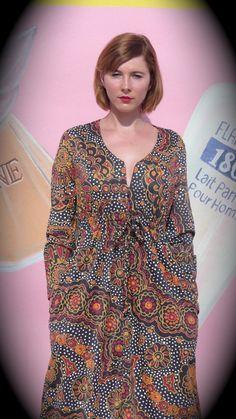 AFRO FAB ethnic print dress. $35.00, via Etsy.