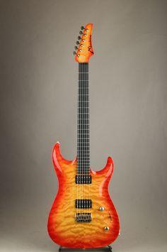 Marchione Guitars[マルキオーネ ギターズ] Carve Top Hard Tail Oxblood Cherry Burst Faton Macula 使用実機 2002|詳細写真