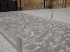 Marshalls La Linia Paving at Wakefield Kirkgate Station Block Paving Patterns, Pavement Design, Drainage Solutions, Paving Stones, Concrete Blocks, Wood Planks, Landscape Design, Entrance, Tile Floor