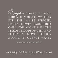 Angels... wish it didn't cuss but it kinda brings it all together