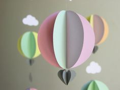 Hot Air Balloon Mobile Ice Cream Dream Baby by youngheartslove