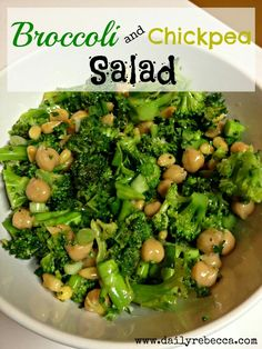 Brocolli and Chickpea Salad