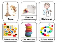 """Labels """"corners"""" and class activities - Nadège School Organization And Management, Classroom Organisation, Science Activities, Activities For Kids, Petite Section, Autism Classroom, Circle Time, Teaching French, Teaching Tools"""