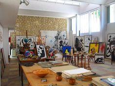 the working studio Fundació Pilar i Joan Miró a Mallorca