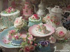 Tea Time party cake pretty time roses tea dessert china set