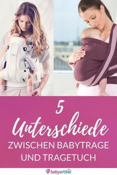 Difference between baby sling and baby carrier Babyartikel.de magazine - Baby carrier or sling? 5 decisive differences / carrying a baby / The difference between the baby c - Baby Co, Baby Kids, Pregnancy Info, Pregnancy Photos, Baby Zimmer, Baby Sling, Pregnant Mom, Maternity Tops, Ring Sling