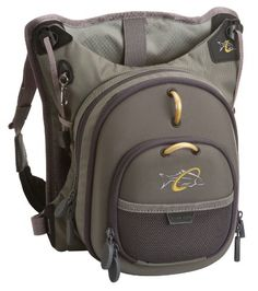 Umpqua rock creek chest pack moss green fishing tackle for Spiderwire sling fishing backpack