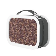 Abstract colorful hand drawn curly pattern design lunch box