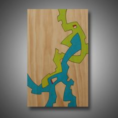 """Modern Art, Original Abstract Design Woodburned onto Pine, Colored with Prismacolor Pencil, """"Amalgamation"""" 11.25"""" x 17"""" by MudHorseArt on Etsy https://www.etsy.com/listing/124537079/modern-art-original-abstract-design"""