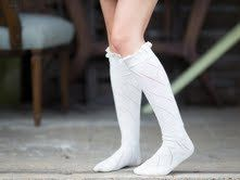 Women Ivory Button Cotton Knit Boot Socks Lace by uptowngirlco, $13.95
