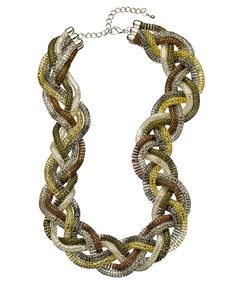 Multi Color Braided Necklace - perfect for fall